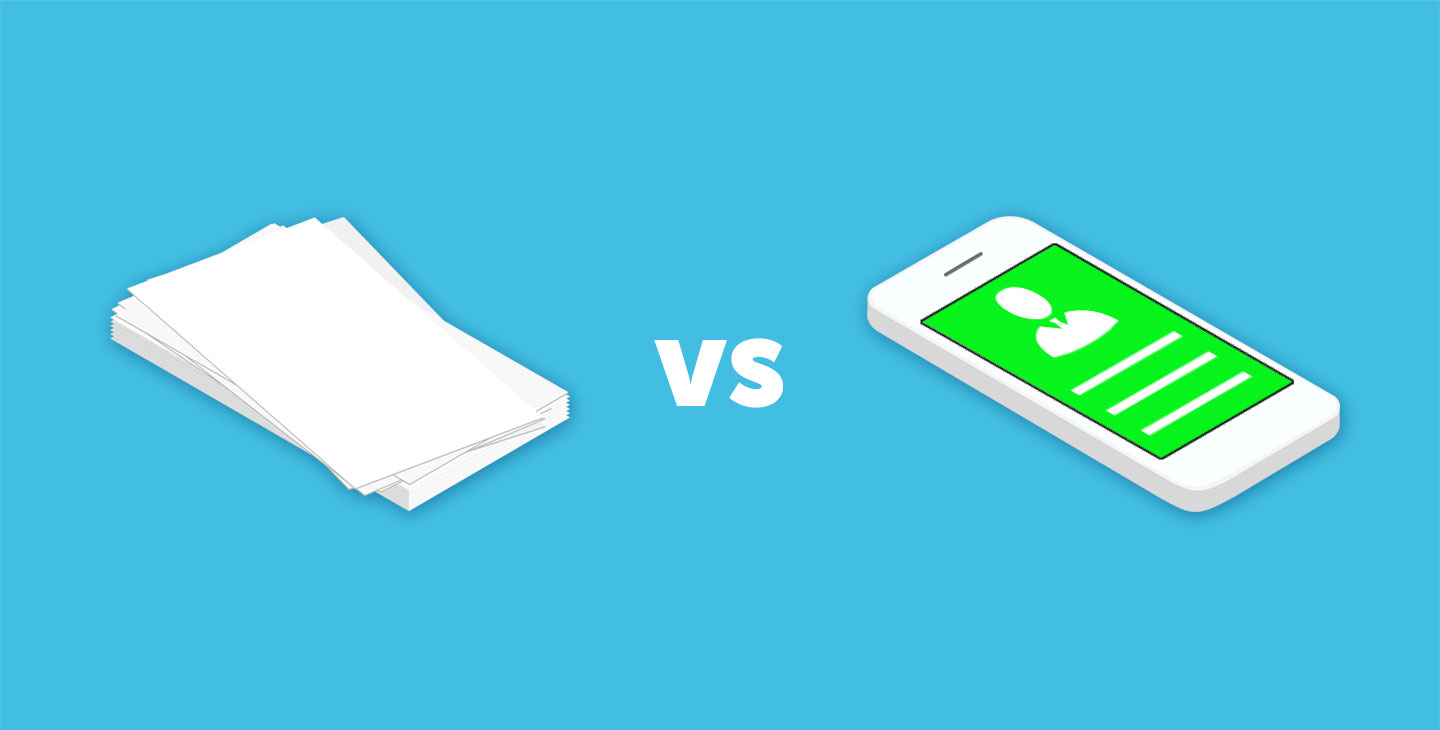 Paper Business Cards vs Digital Business Cards - Pros & Cons