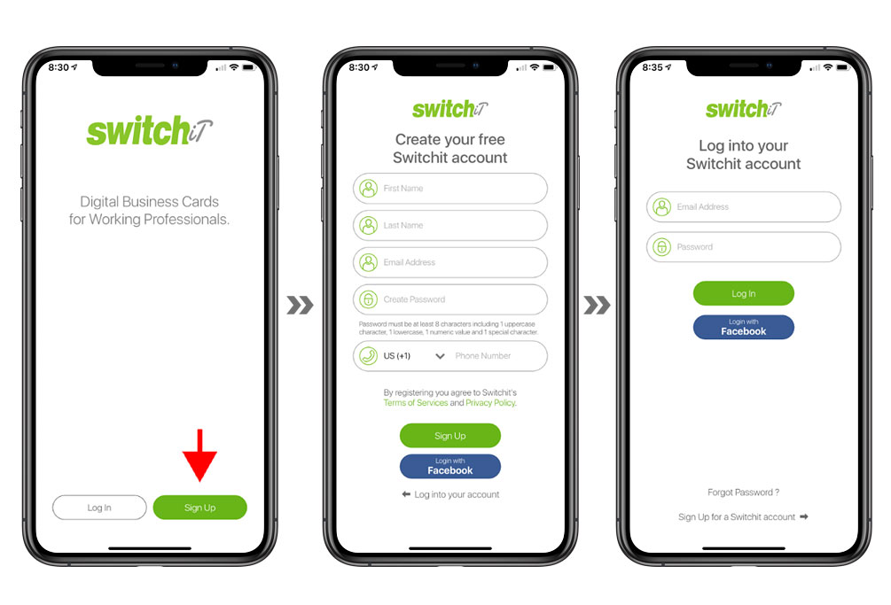 create switchit account